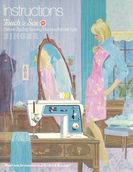 Singer Model 645 Touch And Sew Zig Zag Sewing MANUAL in pdf format
