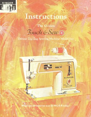 Singer Model 620 Touch And Sew Zig Zag Sewing MANUAL in pdf format
