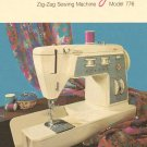 Singer Model 776 Stylist Sewing Machine MANUAL ON CD
