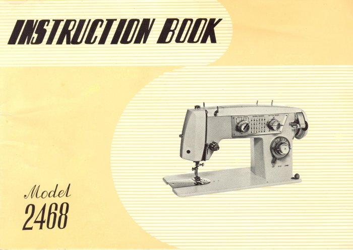 Elgin Model 2468 Sewing Machine Original MANUAL in pdf format