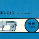 Stradivaro Model 5600 Zig Zag Sewing Machine MANUAL ON CD