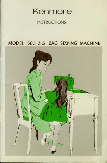 Sears Kenmore Model 1560 148.15600 ZigZag Sewing MANUAL in pdf format