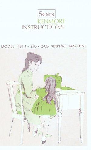 Sears Kenmore Model 1813 158.18130 ZigZag MANUAL in pdf format