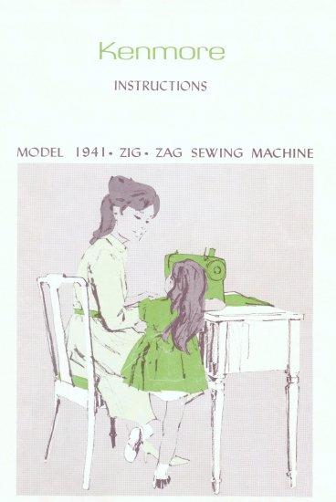 Sears Kenmore Model 1941 158.19410 ZigZag MANUAL in pdf format