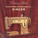 Singer Model 237 Fashion Mate Zig Zag Sewing MANUAL ON CD