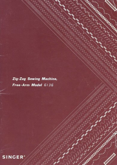Singer Model 6136 Zig Zag Sewing Machine MANUAL in pdf format