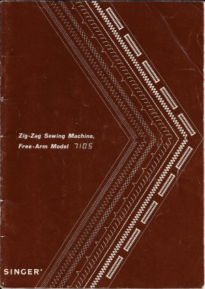 Singer Model 7105 Zig Zag Sewing Machine MANUAL in pdf format