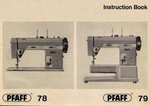 Pfaff Model 78 & Model 79 Sewing Machine in pdf format