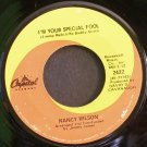 Nancy Wilson~I'm Your Special Fool~ Capitol Records 1969, 45