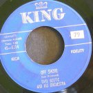 EARL BOSTIC~Off Shore / Hello Sixty~ King 45-5314 1960, 45