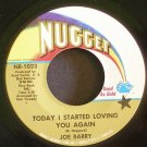 JOE BARRY~Today I Started Loving You Again~ Nugget NR-1023 1968, 45