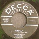 OWEN BRADLEY~Moritat / Lights of Vienna~ Decca 9-29816 1956, 45