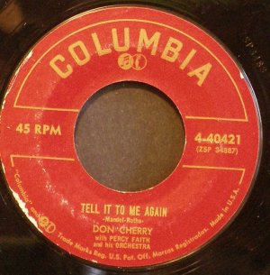 DON CHERRY~Tell it to Me Again / Clean Break~ Columbia 4-40421 45