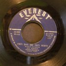 JOE SENECA~Forty Days and Forty Nights / Talk to Me~ Everest 19382 1960, 45 VG