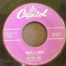 PEE WEE HUNT~Three's a Crowd / Cow Bell Strut~ Capitol F2750 1953, 45
