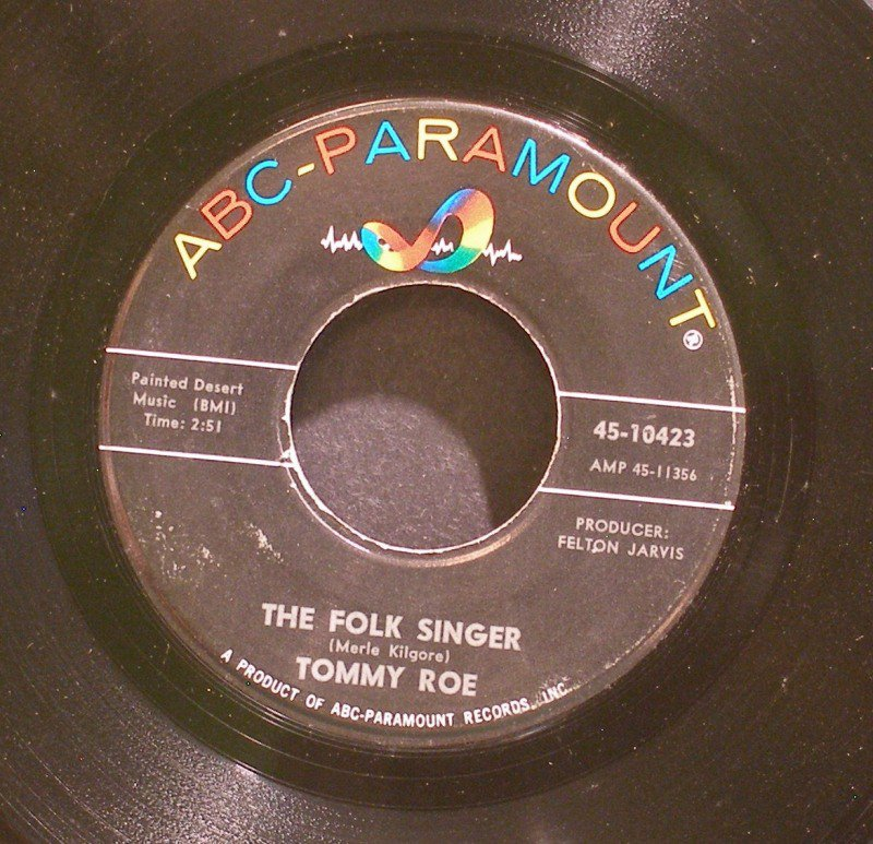 TOMMY ROE~The Folk Singer / Count on Me~ ABC-Paramount 45-10423 45
