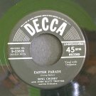 BING CROSBY~Easter Parade / I've Got Plenty to Be Thankful for~ Decca 9-23819 1950, 45