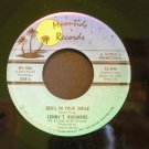 LENNY T. RICHARDS~Devil in Your Smile / I Just Don't Believe it ~ Moontide MT-1003 1987, PROMO 45