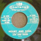 JAN & DEAN~Heart and Soul / Midsummer Night's Dream~ Challenge 9111 1961, 45