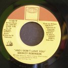 SMOKEY ROBINSON~And I Don't Love You / Dynamite~ Tamla 1735TF 1983, 45