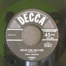 TONY MARTIN~Begin the Beguine / September Song~ Decca 9-25018 1950, 45