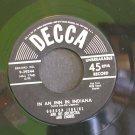 GORDON JENKINS~In an Inn in Indiana / Slowly But Surely~ Decca 9-29244 1954, 45