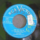DON CORNELL~That Old Feeling / Was That the Human Thing to Do~ RCA Victor 47-4043 45