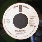 LINDA RONSTADT~I Knew You When~ Asylum 7-69853 1982, PROMO 45