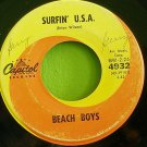 BEACH BOYS~Surfin' U.S.A. / Shut Down~ Capitol 4932 1963, 45