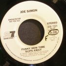 JOE SIMON~Funny How Time Slips Away~ Sound Stage 7 ZS8 1521 1976, PROMO 45