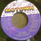 LIONEL RICHIE~You Are / You Mean More to Me~ Motown 1657 MF 1982, 45