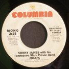 SONNY JAMES~Abilene~ Columbia 3-10628 1977, PROMO 45
