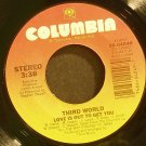 THIRD WORLD~Love is Out to Get You~ Columbia 4049 1983, 45 VG+