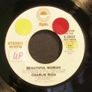 CHARLIE RICH~Beautiful Woman~EPIC 50562 Promo VG+ 45