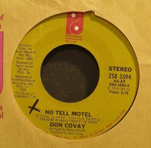 DON COVAY~No Tell Motel~Philadelphia Int'l 3594 (Disco) Rare VG+ 45