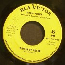 EDDIE FISHER~Rain in My Heart~RCA Victor 9574 VG+ 45