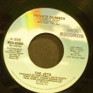 THE JETS~Private Number~MCA 52846 (Synth-Pop) VG+ 45