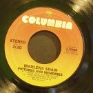 MARLENA SHAW~Pictures and Memories~Columbia 10589 (Smooth Jazz) Rare VG+ 45