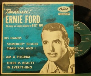 Tennessee ernie ford his hands capitol 1 639 gospel 45 ep