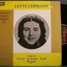 LOTTE LEHMANN~Lotte Lehmann, Soprano~HMV 1121 Mono M- England LP