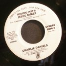 CHARLIE DANIELS & EMMYLOU HARRIS~Riding with Jesse James~A&M 2290-S Promo VG+ 45