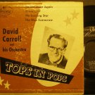 DAVID CARROLL~Tops in Pops~Mercury 1-4016 (Big Band Swing)  45 EP