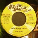 FIVE SATINS & CURTIS LEE~In the Still of the Nite~Rock'n Mania 222 (Doo-Wop)  45