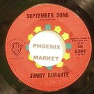 JIMMY DURANTE~September Song~Warner Bros. 5382  45