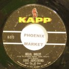 LOUIS ARMSTRONG~Hello, Dolly!~Kapp 573 (Dixieland/New Orleans Jazz)  45