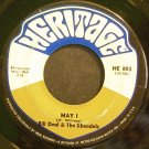 BILL DEAL & THE RHONDELS~May I~Heritage 803 (Soul)  45