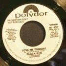 BLACKJACK~Love Me Tonight~Polydor 14572 (General Rock) Promo VG++ 45