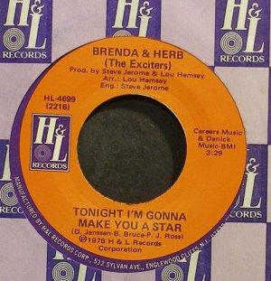 BRENDA & HERB~Tonight I'm Gonna Make You a Star~H & L 4699 (Soul) VG+ 45