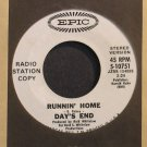 DAY'S END~Runnin' Home~EPIC 10751 (Soft Rock) VG++ 45