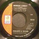 FERRANTE & TEICHER~Midnight Cowboy~United Artists 50554 (OST) VG+ 45